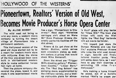 Realtors' Version of Old West, Becomes Horse Opera Center