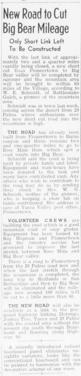 Mar. 26, 1948 - The Desert Sun article clipping