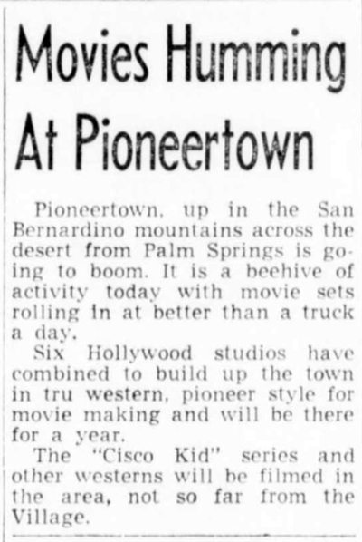 Movies humming at Pioneertown clipping