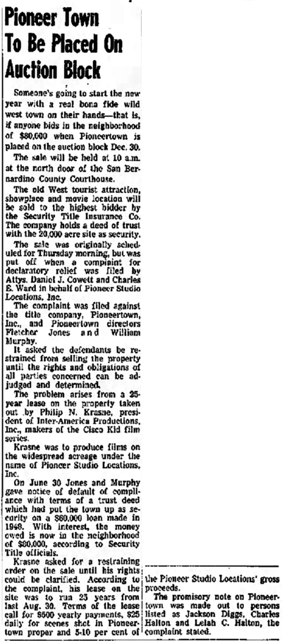 Dec. 23, 1953 - Redlands Daily Facts article clipping