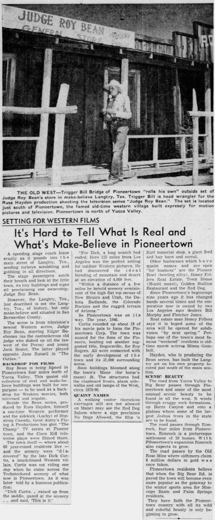 Oct. 16, 1955 - The San Bernardino County Sun article clipping