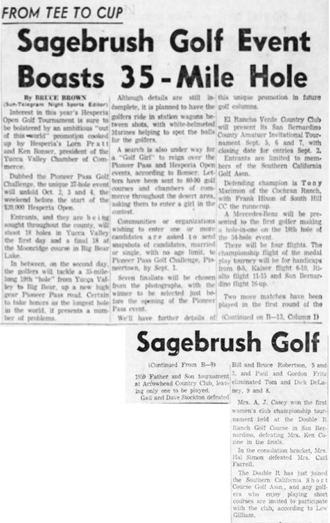 Aug. 21, 1959 - The San Bernardino County Sun article clipping