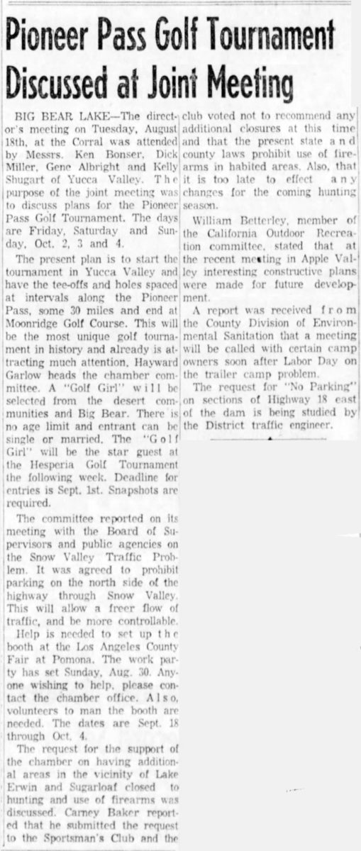 1959 Aug 25 - The San Bernardino County Sun article clipping