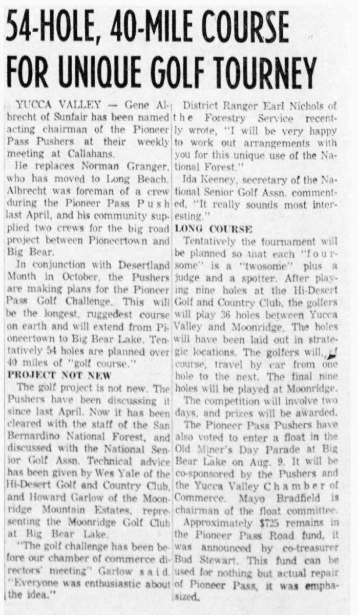 Aug. 5, 1959 - The San Bernardino County Sun article clipping