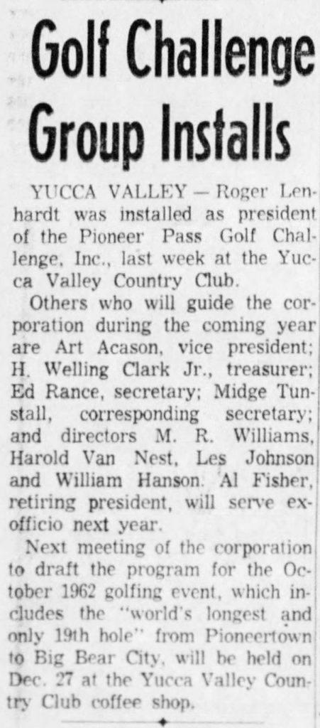 Dec. 17, 1961 - The San Bernardino County Sun article clipping