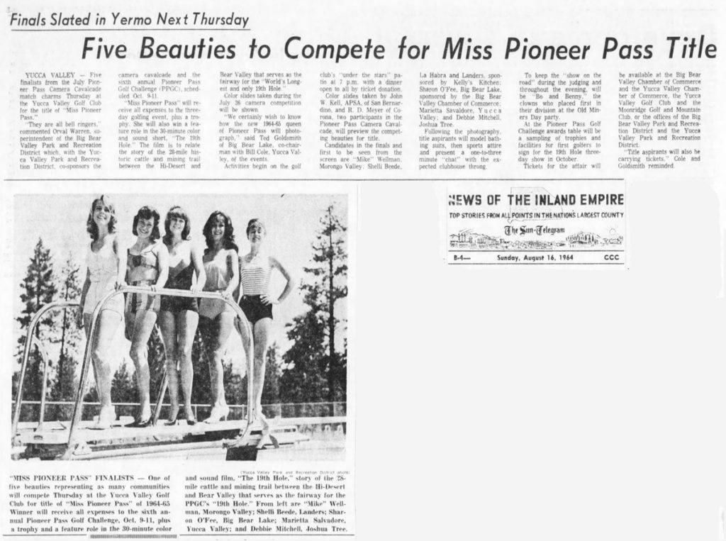 Aug. 16, 1964 - The San Bernardino County Sun artcile clipping