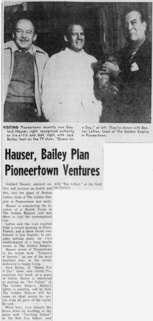 Dec. 1, 1964 - The Desert Sun article clipping