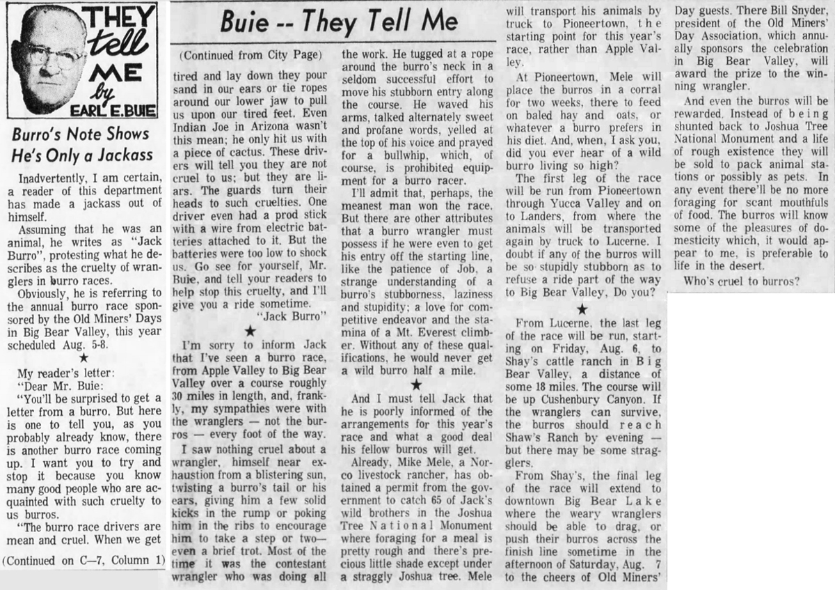 July 11, 1965 - The San Bernardino County Sun article clipping