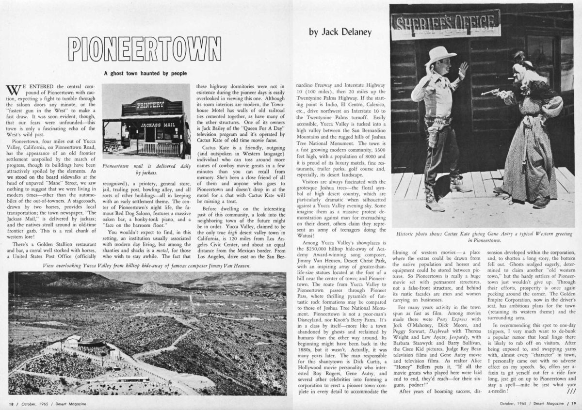 Oct. 1965 Desert Magazine article clipping