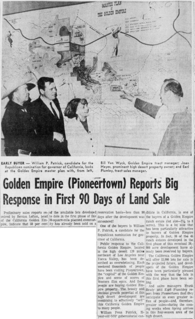 Mar. 18, 1966 - The Desert Sun article clipping