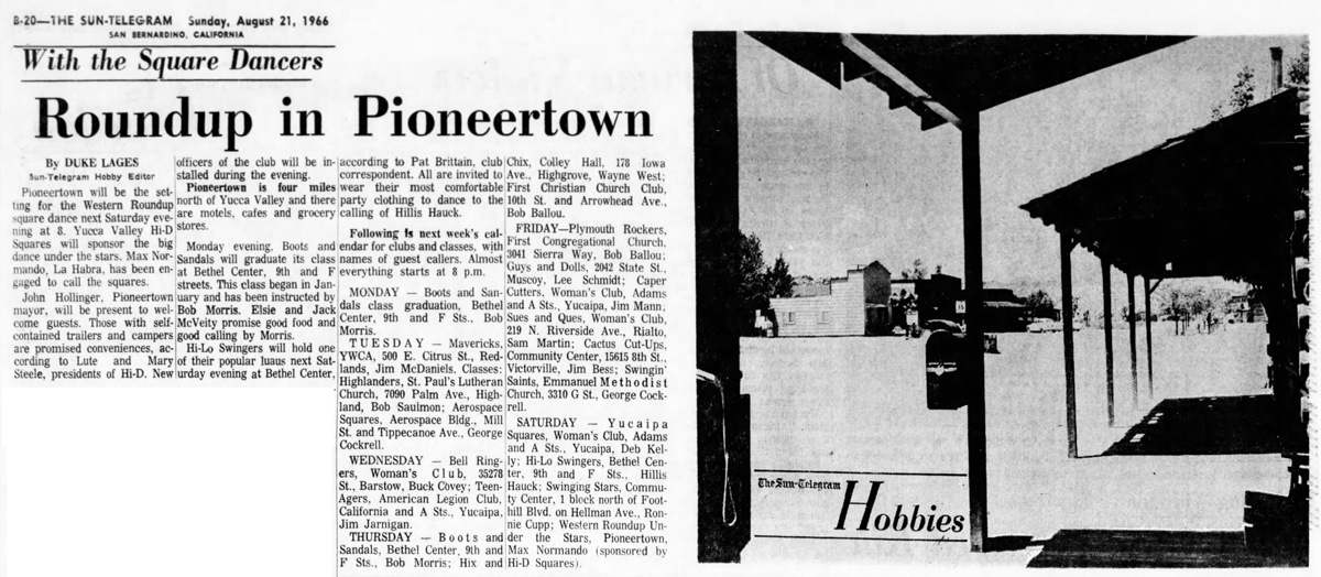 Roundup in Pioneertown aarticle clipping
