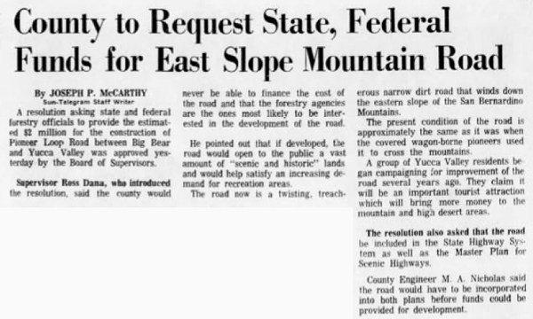 Dec. 12, 1967 - The San Bernardino County Sun article clipping