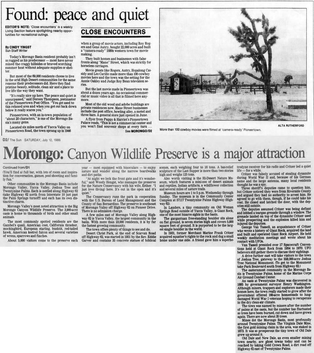 Jul. 12, 1986 - The San Bernardino County Sun article clipping