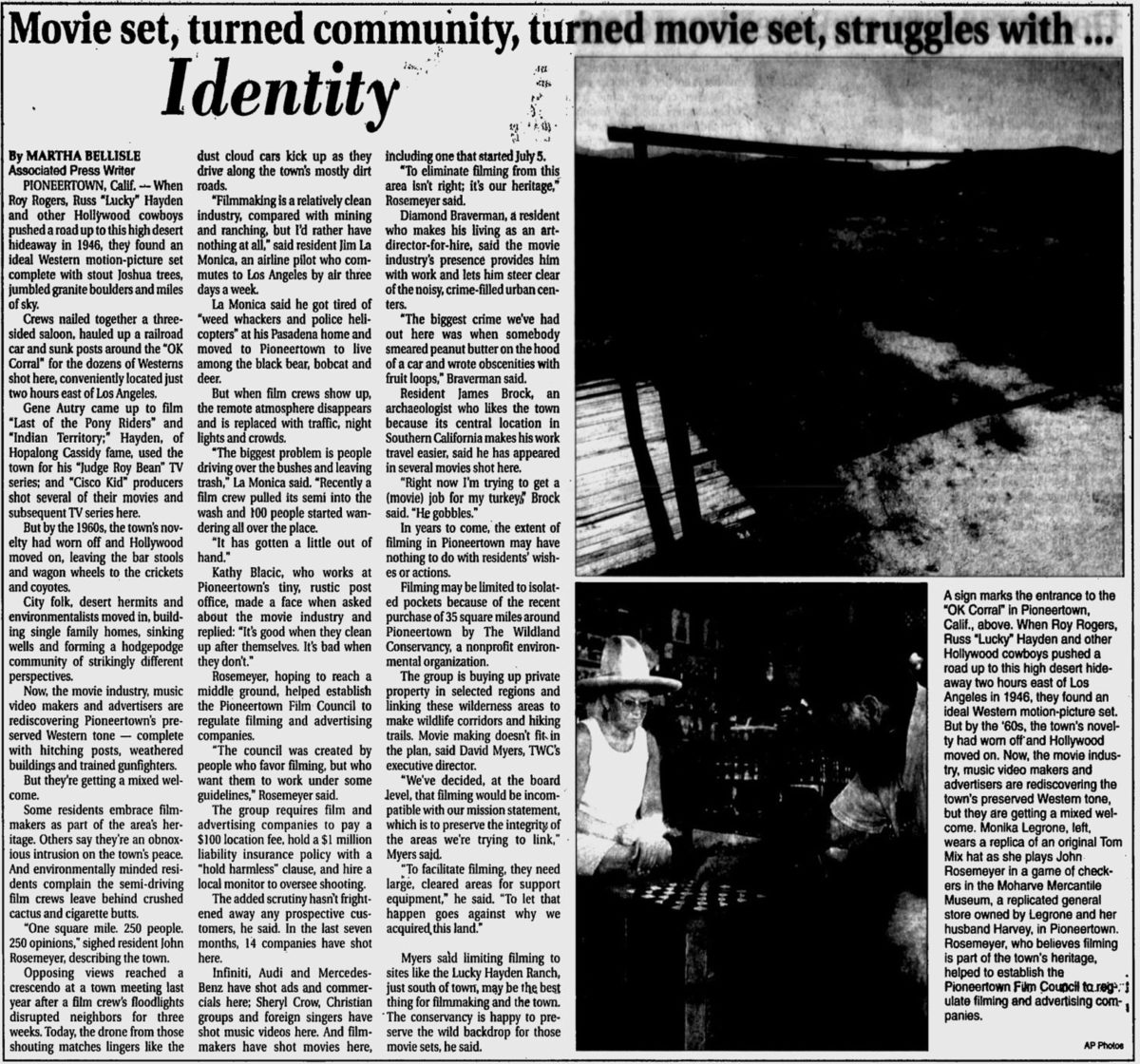 July 3, 1998 - Daily Courier article clipping
