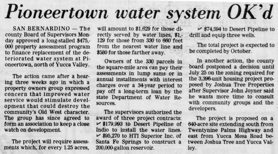 July 12, 1983 water system clipping