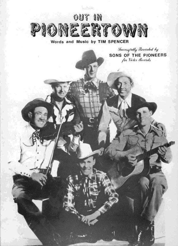 """Out In Pioneertown"" sheet music cover"