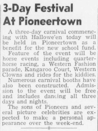 Oct. 31, 1947 - Desert Sun article clipping