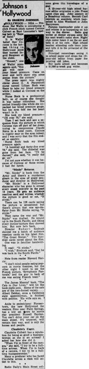 Apr. 7, 1949 - The News Herald article clipping