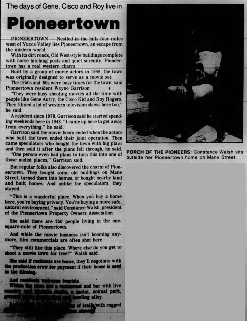 May 26, 1990 - The Desert Sun article clipping