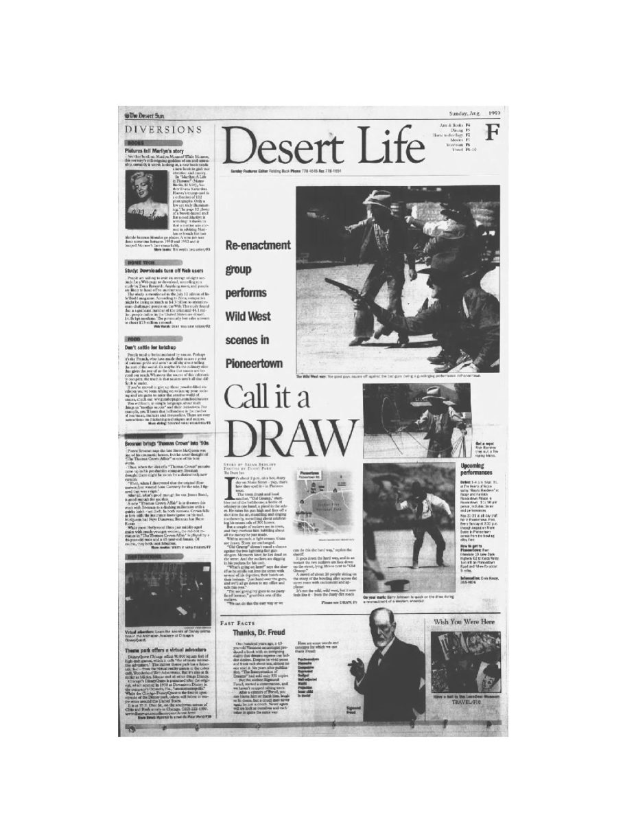 Aug. 8, 1999 - The Desert Sun article clipping
