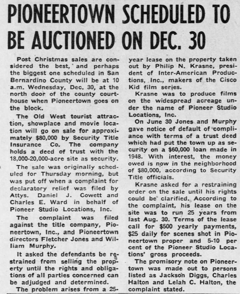 Dec. 19, 1953 - The San Bernardino County Sun article clipping