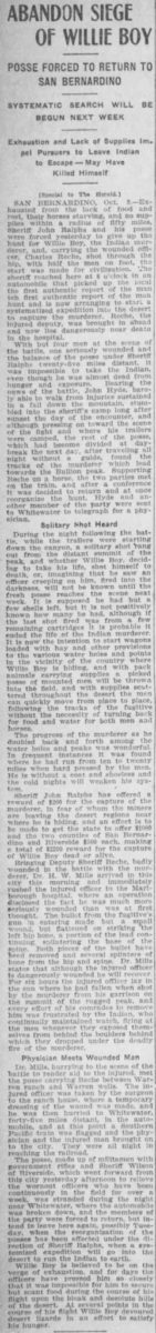 Oct. 10, 1909 - Los Angeles Herald article clipping